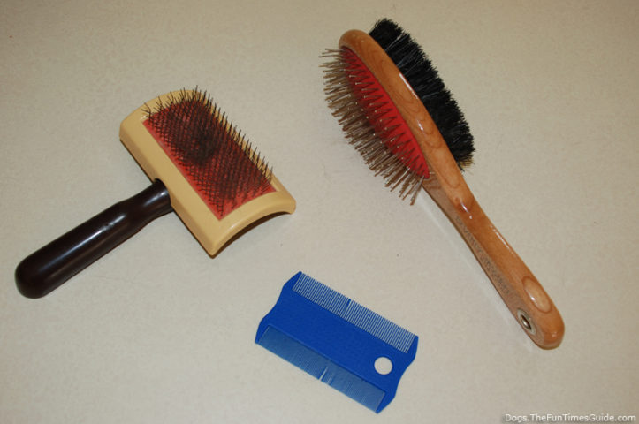 My 3 previous dog brushes... these are NOT the Furminator deShedding tool