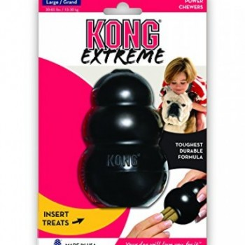 The black KONG Extreme dog toy is made of the most durable rubber... for the most powerful chewers!