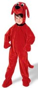 Clifford the Big Red Dog child sized costume.