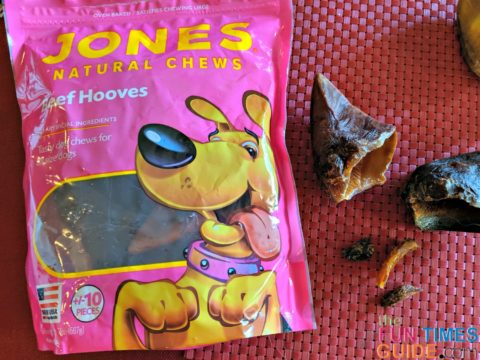 Jones Natural Chews cow hooves get 2 paws up in our house!