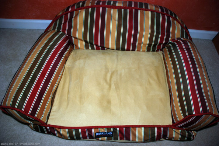 Dog Bed After Using Pledge Fabric Sweeper For