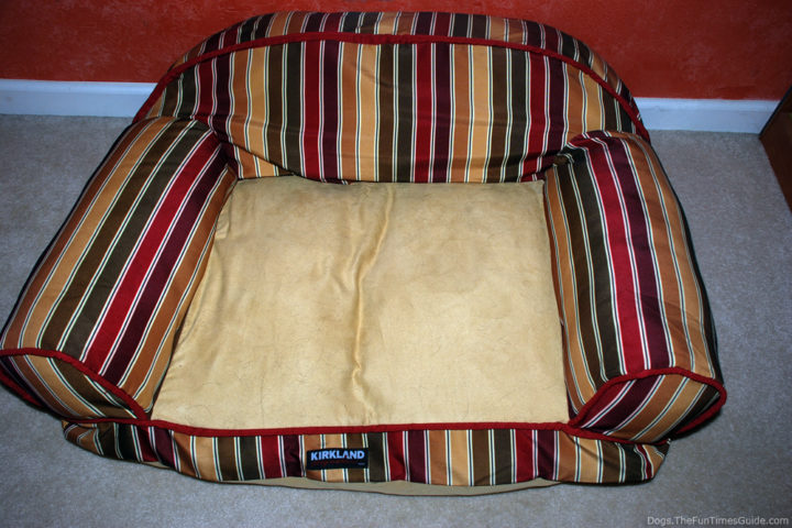Dog Bed Before Using Pledge Fabric Sweeper For
