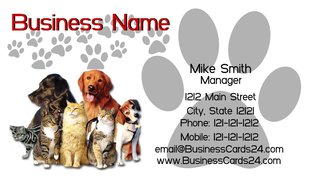 Create professional dog business cards in minutes the dog guide dog business cards pawprints colourmoves