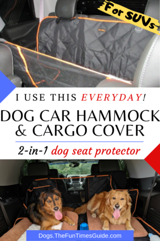 I use this dog car hammock & dog cargo cover every day!