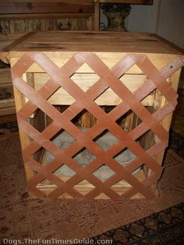 Cool  dog crate table back after