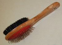 This is a pin and bristle pet brush.