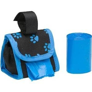 If you carry dog poop bags with you when walking your dog, then you need a dog poop bag holder! This paw print dog poop bag dispenser is the best I've found!