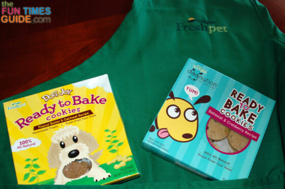 These are 2 examples of Freshpet ready to bake cookies for dogs.
