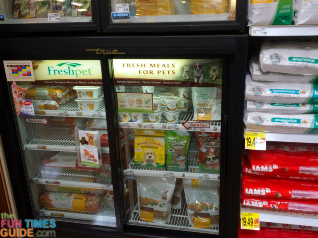 Freshpet has a lot of varieties of refrigerated dog food available in stores these days!