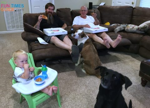My father-in-law and his grand-dogs