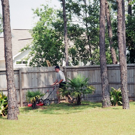 We had a huge backyard at our Gulf Breeze House.