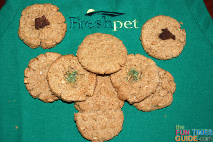These are the first few Freshpet Ready To Bake Cookies I made for my dog.