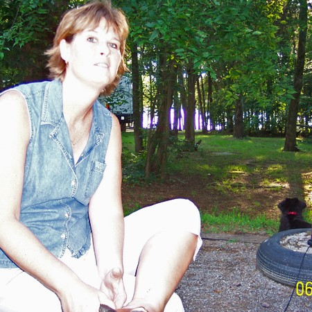 Lynnette and Destin checking out the campsite.