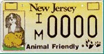 New Jersey license plate in support of pets.