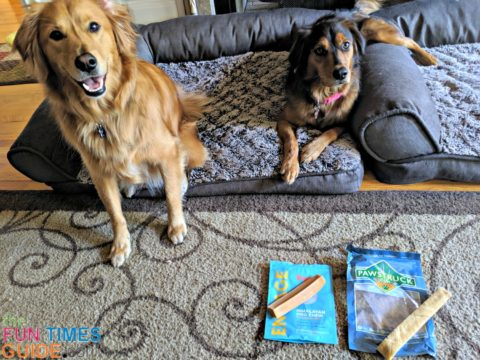 I was eager to try these 2 brands of Himalayan Chews with my dogs: Pupford and Pawstruck.