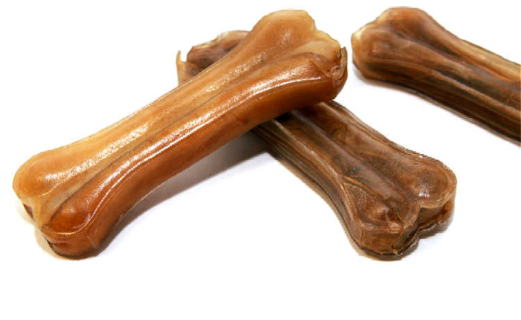 This is an example of pressed rawhide bones for dogs. Notice how tightly compressed the layers of cowhide are? They're impossible to separate!