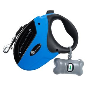 This is a retractable dog leash - it's very popular, but gives you little to no control over your dog.
