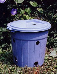 Self-contained dog poop compost bin - small.