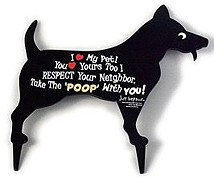 'Take The Poop With You' yard sign for dog owners.