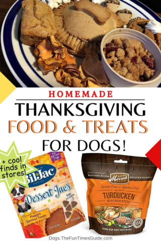 Homemade Thanksgiving food AND treats for dogs!
