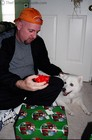 Ah the joy of wrapping gifts with dogs!